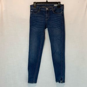 Zara Basic Denim Mid-rise Skinny Zipper Ankle